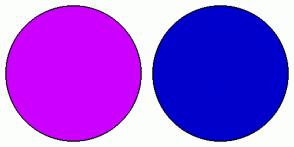 Color Scheme with #CC00FF #0000CC