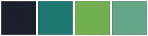 Color Scheme with #1A202C #1F7872 #72B050 #63A786