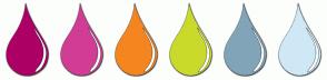 Color Scheme with #AD0066 #D13D94 #F5851F #CADA2A #81A4B9 #CFE8F6