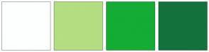 Color Scheme with #FDFFFF #B3DE81 #14AC34 #13723B