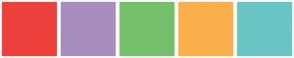 Color Scheme with #ED403D #A88DBF #75BF6B #FBAF4C #69C6C5