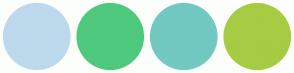 Color Scheme with #BDD9EC #4EC97D #72C9C1 #A6CC43