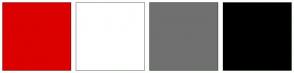 Color Scheme with #DC0000 #FFFFFF #707070 #000000