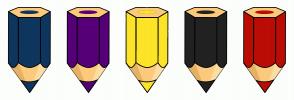 Color Scheme with #0E365E #560078 #FDE428 #222222 #BC0C06