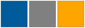 Color Scheme with #005B9A #808080 #FFA500