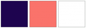 Color Scheme with #1E044F #FA736B #FFFFFF