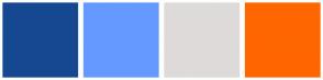 Color Scheme with #154890 #6699FF #DFDADA #FF6600