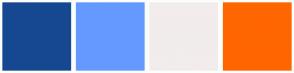 Color Scheme with #154890 #6699FF #F2ECEC #FF6600