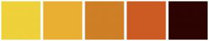 Color Scheme with #EFD13B #E9AF32 #CF7F26 #CC5B23 #2C0402