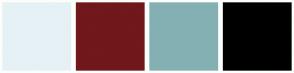 Color Scheme with #E6F1F5 #70181C #84B0B3 #000000