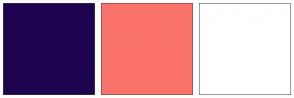 Color Scheme with #1E044F #FA736B #FFFFFF