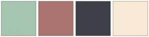 Color Scheme with #A5C5AF #AA7570 #3D4048 #F8E9D5