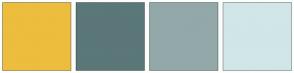 Color Scheme with #EDBD3E #5B7778 #93A8A9 #D1E6E7