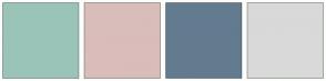 Color Scheme with #9BC4B8 #D9BDBA #637B8F #D9D9D9