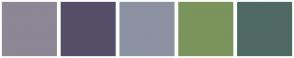 Color Scheme with #8D8694 #554E68 #8C92A2 #7A945C #4F6963