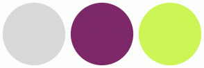 Color Scheme with #D9D9D9 #7D2868 #CDF556