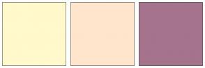 Color Scheme with #FFF9CC #FFE5CC #A5738C
