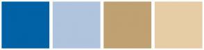 Color Scheme with #0162A5 #B0C4DE #C0A172 #E7CDA6