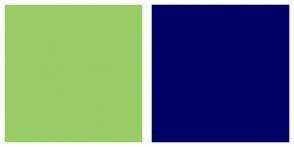 Color Scheme with #99CC66 #000066