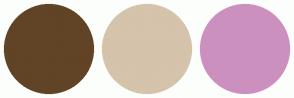 Color Scheme with #614326 #D5C3AB #CC90BF