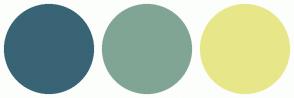Color Scheme with #396476 #81A594 #E7E78A