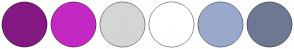 Color Scheme with #841983 #C428C3 #D5D5D5 #FFFFFF #99A9CC #6D7993