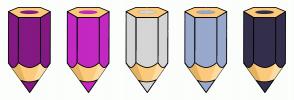 Color Scheme with #841983 #C428C3 #D5D5D5 #99A9CC #342F4B