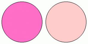 Color Scheme with #FF6EC7 #FFCCCC