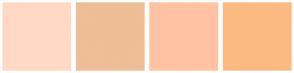 Color Scheme with #FFD9C4 #EDBE98 #FFC3A3 #FCBA83