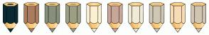 Color Scheme with #0A2A34 #A97D5D #87907D #9C9F84 #FCF1D1 #C9A798 #EFEBD6 #CFC8B5 #F7DCB4 #D0C6B1