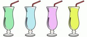 Color Scheme with #9DECB1 #BCEBF2 #F1BCF7 #E8F760