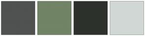 Color Scheme with #505151 #718465 #2D312C #D1D8D5