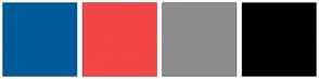 Color Scheme with #005B9A #F44747 #8D8C8C #000000