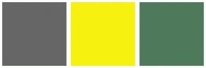 Color Scheme with #666666 #F7F110 #4E7A5B