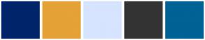 Color Scheme with #002469 #E4A237 #D6E4FF #333333 #006295