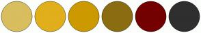 Color Scheme with #D8BE5E #E1AF1B #CC9900 #8B6D11 #740000 #2F2F2F