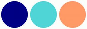 Color Scheme with #000084 #4FD5D6 #FF9966