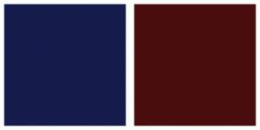 Color Scheme with #151C4C #4A0D0D