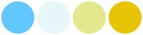 Color Scheme with #63C8FF #E7F6F9 #E3E88E #E8C407