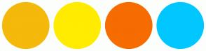 Color Scheme with #F4B90A #FFEC00 #F66C00 #00C7FF