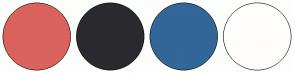 Color Scheme with #DA635D #2A2A2F #336699 #FFFCFC