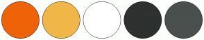 Color Scheme with #EE6308 #F0B648 #FFFFFF #2D312F #4A504E