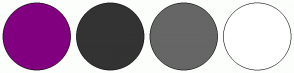 Color Scheme with #800080 #333333 #666666 #FFFFFF