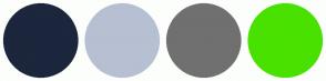 Color Scheme with #1C263C #B6C0D2 #707070 #49E100