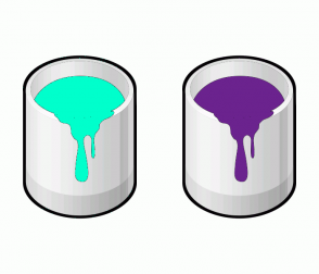 Color Scheme with #00FFCC #6B238E