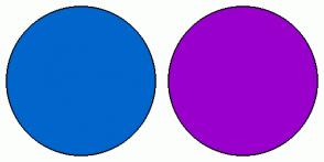 Color Scheme with #0066CC #9900CC