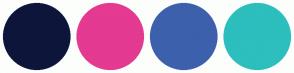 Color Scheme with #0D163A #E43A91 #3D60AC #2DBEBE