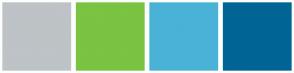 Color Scheme with #BDC3C6 #7BC342 #4AB2D6 #006594