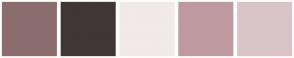 Color Scheme with #8C6D6D #403636 #F2E9E9 #BF99A0 #D9C5C9