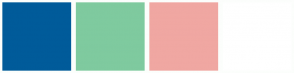 Color Scheme with #005B9A #7FCA9F #F0A7A2 #FFFFFF